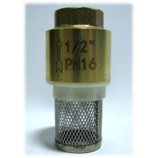 """Обратный клапан 1/2"""" пласт. затвор с фильтром"""
