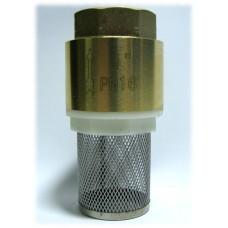 """Обратный клапан 1"""" пласт. затвор с фильтром"""
