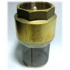 """Обратный клапан 2"""" пласт. затвор с фильтром"""