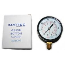 Манометр (0 - 0,6) радиальный 63мм