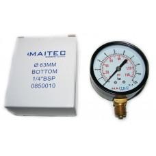 Манометр (0 - 10) радиальный 63мм