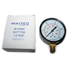 Манометр (0 - 25) радиальный 63мм