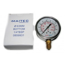Манометр (0 - 10) глицериновый радиальный 63мм
