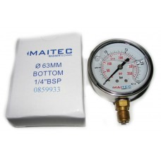 Манометр (0 - 25) глицериновый радиальный 63мм