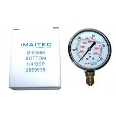Манометр (0 - 250) глицериновый радиальный 63мм