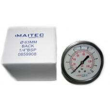 Манометр (0 - 10) глицериновый осевой 63мм