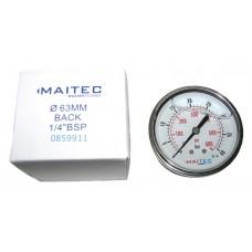 Манометр (0 - 40) глицериновый осевой 63мм